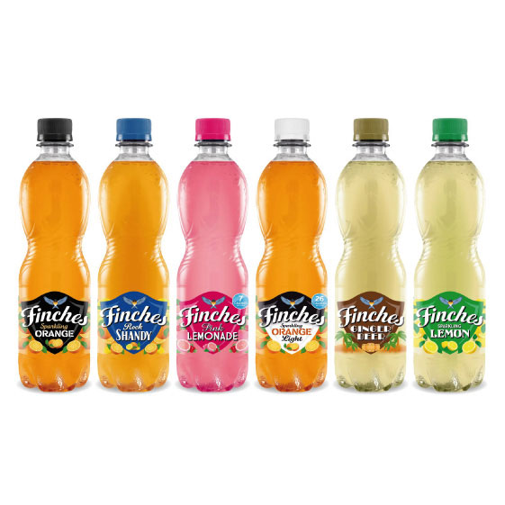 Finches soft drinks rebrand - 500ml range